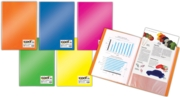 DISPLAY BOOK,Cool Polyprop A4 20 pocket Neon Colours