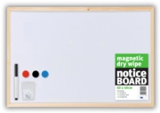 NOTICE BOARD,Drywipe Magnetic 60x40cm                   C834