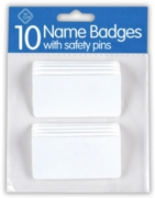 NAME BADGES,With Pins 10's H/pk