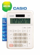 CALCULATOR,Casio Mini Desk Solar MX-8B WE  I/cd