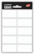LABEL,S/Adh White 19x38mm H/pk