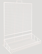 COUNTER STAND,With Basket Wire 585mm W,725mm H,360mm D