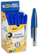 BALL PEN,Cristal Blue Med (Bic)