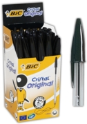 BALL PEN,Cristal Black Med (Bic)