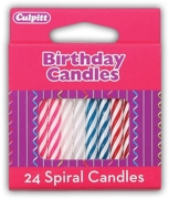 CAKE CANDLES,Candy Stripe 24's