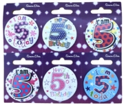BADGE,AGE 5 Small 54mm