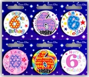 BADGE,AGE 6 Small 54mm