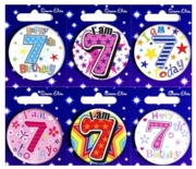 BADGE,AGE 7 Small 54mm