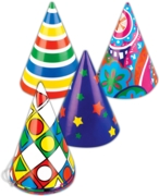 PARTY HAT,Cone Shape Asst.