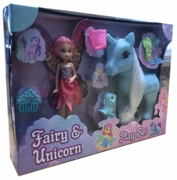 UNICORN & FAIRY,Playset, 3 Asst.Bxd