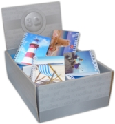 NOTEBOOK,Seaside Memories 3D A6 Twin Wire CDU (Was 1.79)