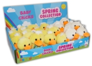 "BABY CHICK,Easter,4"" 2 Asst Colours CDU"