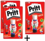 PRITT STICK,Standard 11gm I/cd (2pks + 1 FOC)