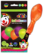 BALLOONS,Light Up LED 10in 100% Latex,Neon Asst.Cols 5's