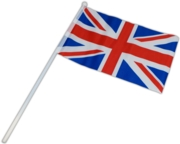 UNION FLAG,Cloth 12x18in Hand Waving