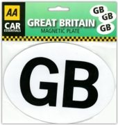 BADGE,Magnetic  GB Plate (£1.99)