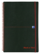 NOTEBOOK,Black N'Red Twin Wire A4 Feint 140pg (Was 6.75)