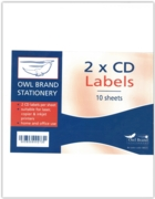 LABEL,S/Adh A4 Sheet (2 CD Labels)(Was 2.99)