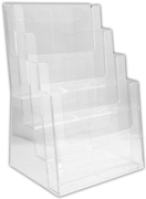 LEAFLET & MAP HOLDER,A4 Clear Four Tier W240 D210 High340mm