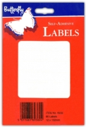 LABEL,S/Adh White 12x102mm H/pk