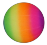 BALL,Neon Rainbow Effect, 8in., In H/pk Net