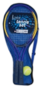 TENNIS SET,METAL Two Rackets + Ball In Zip-up Bag