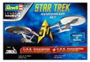 REVELL Gift Set,Star Trek 50yr Anni. 2 Models. 1:600/500