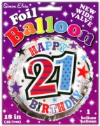 BALLOONS,Age 21 Male Helium Foil