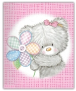 GIFT TAGS,Cute Bears Pink 12's
