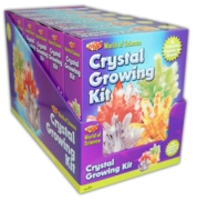 CRYSTAL GROWING KIT,4 Cols World of Science Bxd CDU