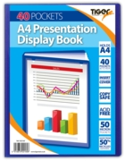 DISPLAY BOOK,A4 40 pocket Tiger