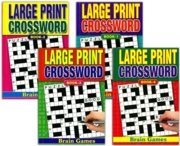 ACTIVITY BOOK,Crossword A5 Large Print