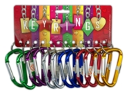 KEYRING, Carabiner Climbing Style 6 Asst.Cols