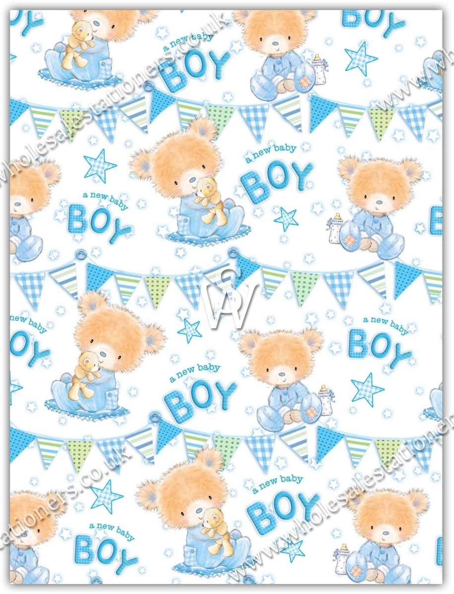 Gift Wrap Baby Boy Wholesale Stationers