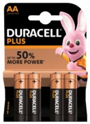 DURACELL Batteries AA 4's I/cd