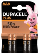 DURACELL Batteries AAA 4's I/cd