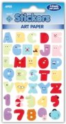 STICKER,Artpaper Comic Numbers & Letters
