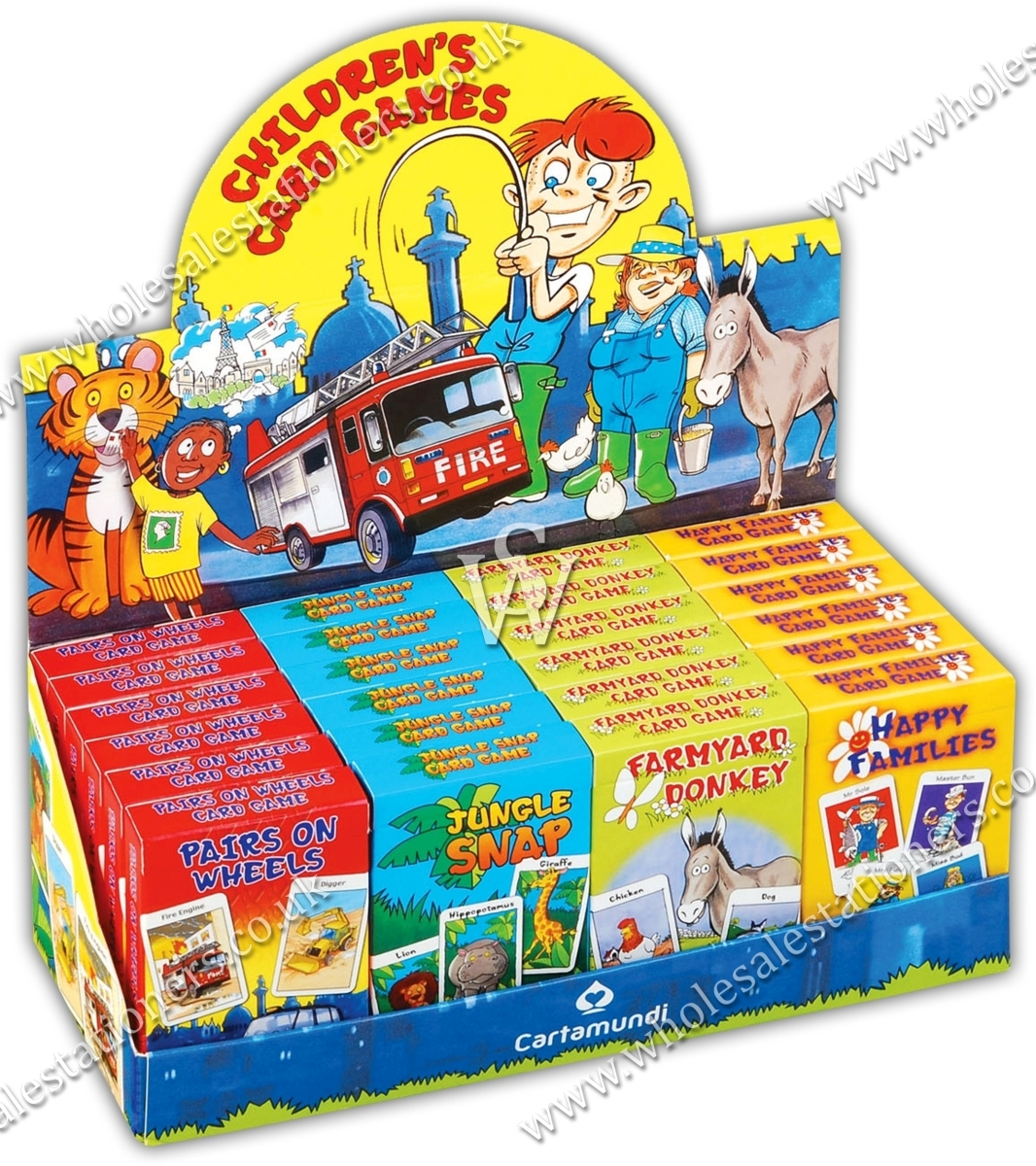 CARD GAMES,Childs 4 Asst. Snap,Donkey,Pairs & H.Families