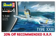 REVELL Model,Submarine German Type XXIII 1:144 (-20%)