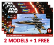 REVELL Easykit,Poe's X-Wing Fighter  (2 + 1 Free Deal)