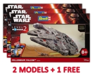 REVELL Easykit,Millennium Falcon (2 + 1 Free Deal)