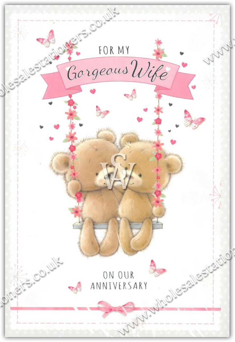 Greeting Cardswife Anni12s Teddy Bears Wholesale Stationers