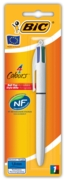 BALL PEN,4 Colour  I/cd (Bic) (White Barrel)