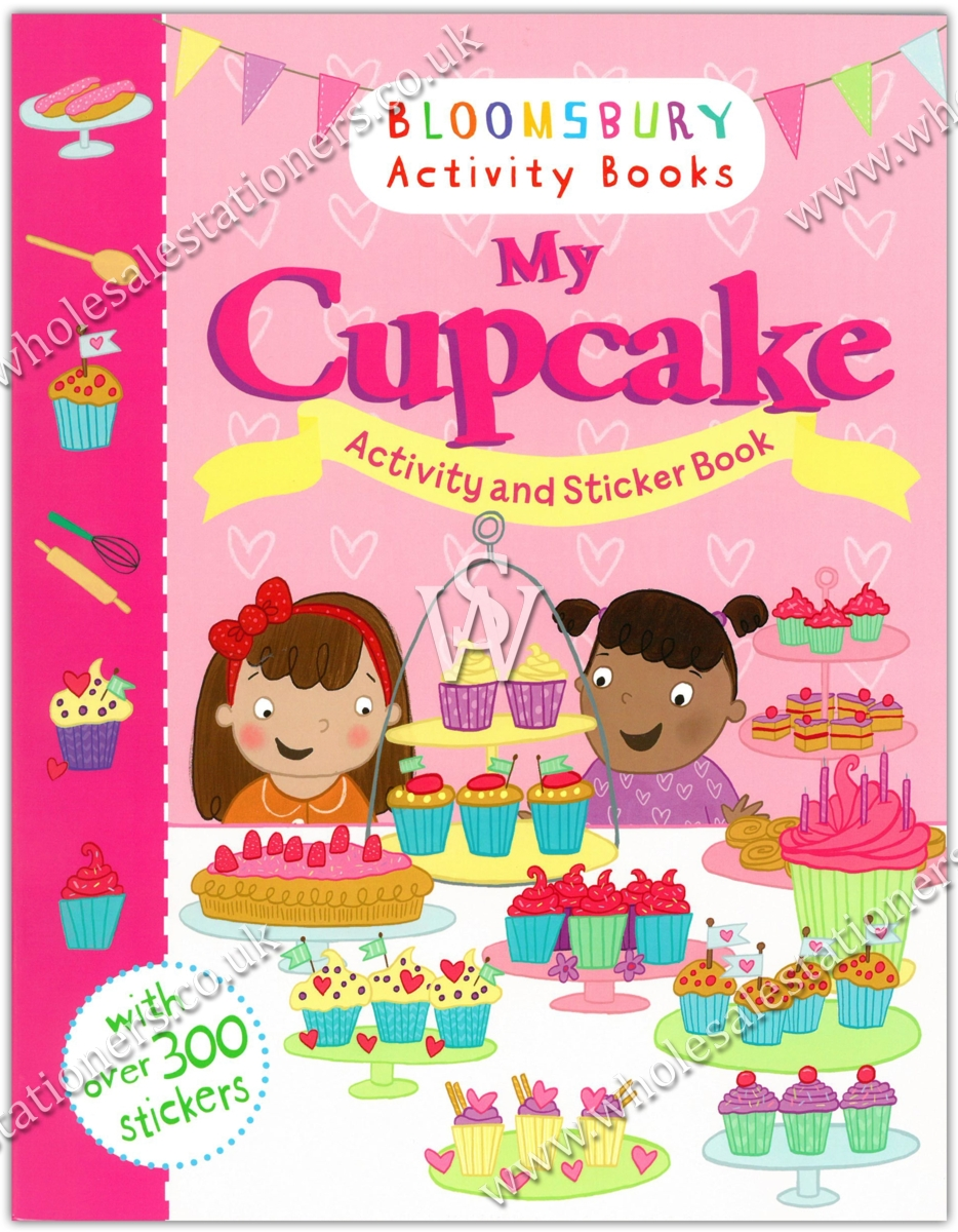Bloomsbury Sticker Activity Bookmy Cupcake Wholesale Stationers Books My Pretty Pink