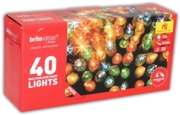 TREE LIGHTS,Indoor Multi Coloured 40's Boxed