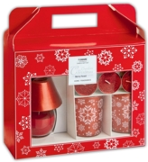 CANDLE GIFT SET,Red Decorated/ Scented 21 x 23cm (Was 14.99)