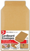 CARDBOARD ENVELOPES,245x345+80 mm A4+ Self Seal Easy Open 3's