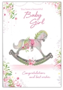 GREETING CARDS,Baby Girl 6's Bunny