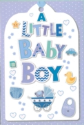 GREETING CARDS,Baby Boy 6's Icons & Text