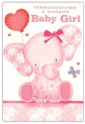 GREETING CARDS,Baby Girl 6's Floral Teddies